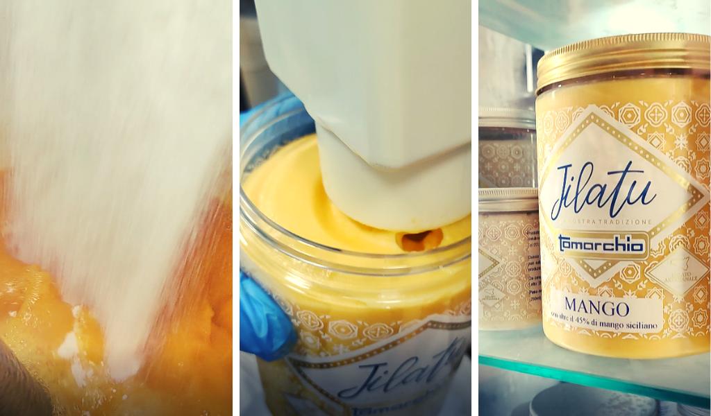 gelato al mango Tomarchio - Jilatu